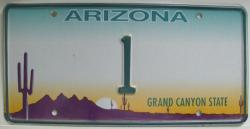 Nummernschild Arizona