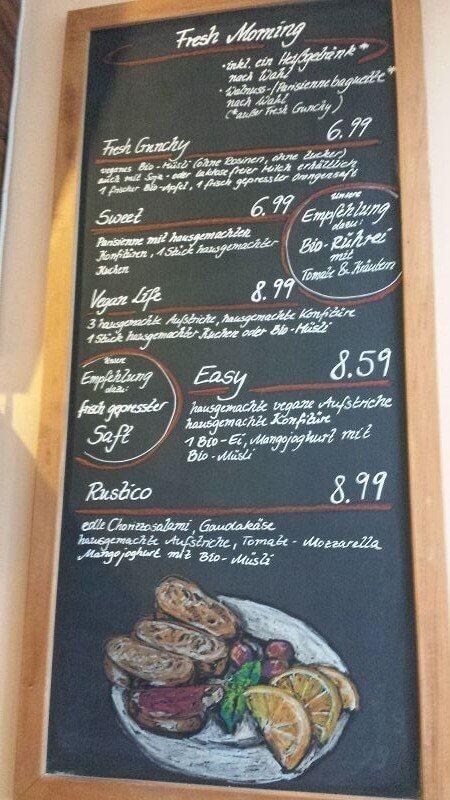 Frühstückskarte cognito Erfurt