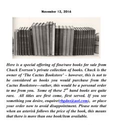 Letzte Mail vom cactusbookstore