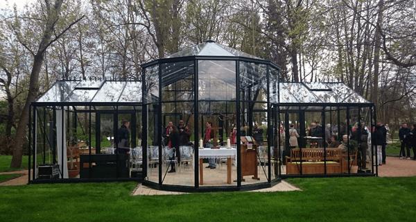 Gottes Gartenhaus - Kirche auf der Landesgartenschau Apolda 2017 - zur Eröffnung mit Bodo Ramelow