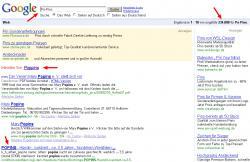 Po-Pins bei Google