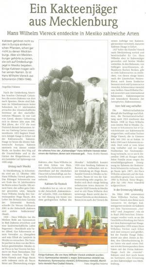 Artikel über Hans-Werner Viereck