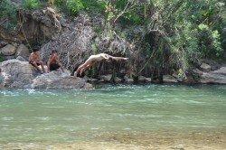 ....da hilft nur eine Abkühlung im Rio Crisnejas !!
